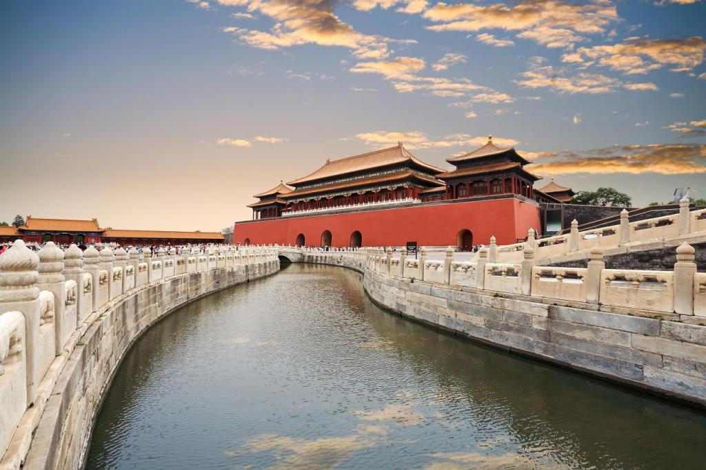 Beijing. Walls and moat of  Forbidden city