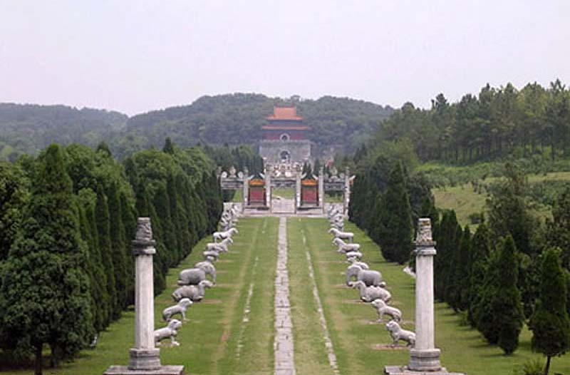 Beijing. Ming Tombs.Spirit way