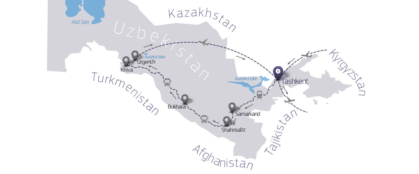 Jewish Heritage In Uzbekistan CaravanTravel - Uzbekistan map png